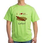 I Love Lefse Green T-Shirt
