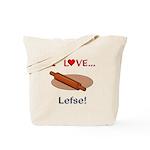 I Love Lefse Tote Bag