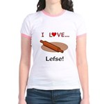 I Love Lefse Jr. Ringer T-Shirt