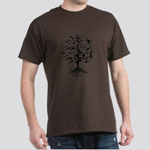 Guitar Tree Roots Dark T-Shirt