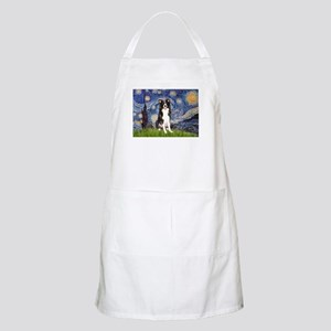 Starry Night Border Collie Apron