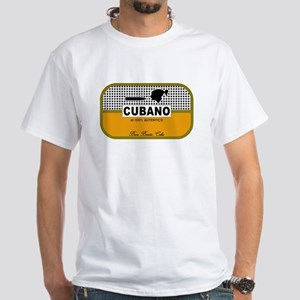 CUBANO el 100% Autentico Alternate White T-Shirt