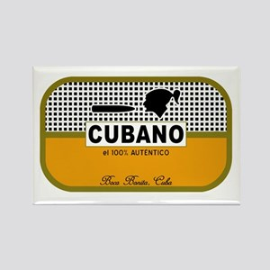 CUBANO el 100% Autentico Alternate Rectangle Magne