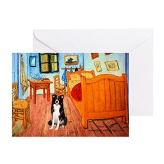 Room with Border Collie Greeting Cards (Pk of 10)
