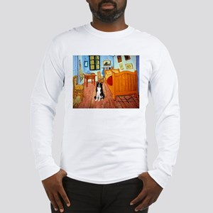 Room with Border Collie Long Sleeve T-Shirt