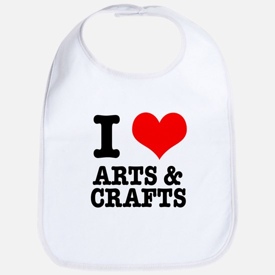 I Heart (Love) Arts & Crafts Bib