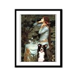 Ophelia & Border Collie Framed Panel Print