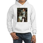 Ophelia & Border Collie Hooded Sweatshirt