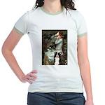 Ophelia & Border Collie Jr. Ringer T-Shirt