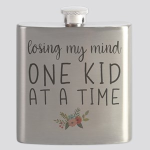 Losing My Mind One Kid at a Time Flask