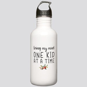 Losing My Mind One Kid at a Time Water Bottle