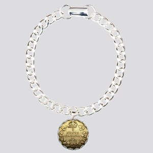 1912 CANADA 5 Cents STER Charm Bracelet, One Charm