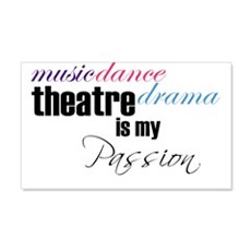 Theatre is my passion Wall Decal