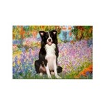 Garden & Border Collie Rectangle Magnet (10 pack)