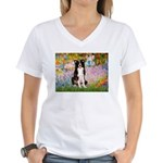 Garden & Border Collie Women's V-Neck T-Shirt