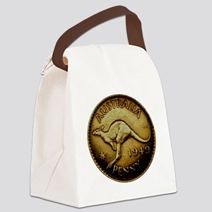 1949 AUSTRALIA One Penny AMAZING  Canvas Lunch Bag