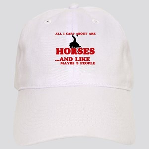 All I care about are Horses Cap
