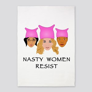 Nasty Women Resist 5'x7'Area Rug