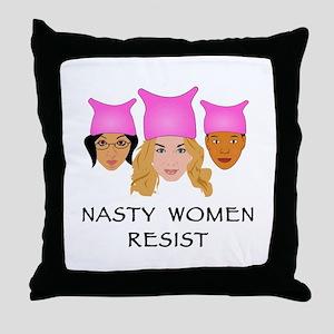 Nasty Women Resist Throw Pillow
