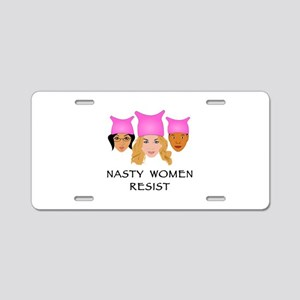 Nasty Women Resist Aluminum License Plate