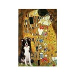 The Kiss & Border Collie Rectangle Magnet
