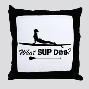 What SUP Dog-b Throw Pillow