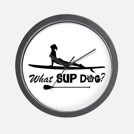 What SUP Dog-b Wall Clock