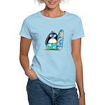 Surfing Penguin Women's Light T-Shirt
