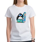 Surfing Penguin Women's T-Shirt