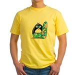 Surfing Penguin Yellow T-Shirt