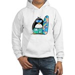 Surfing Penguin Hooded Sweatshirt