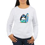 Surfing Penguin Women's Long Sleeve T-Shirt