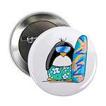 Surfing Penguin Button