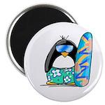 Surfing Penguin Magnet