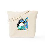 Surfing Penguin Tote Bag