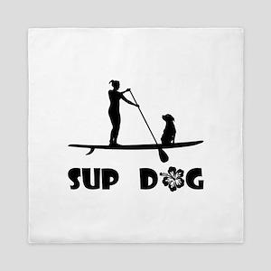 SUP Dog Sitting Queen Duvet
