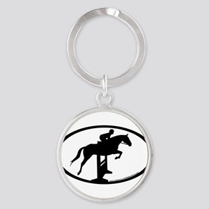hunter jumper fence Keychains