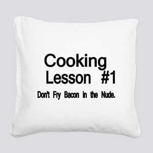 Cooking Lesson 1. Dont Fry Bacon in the Nude Squar