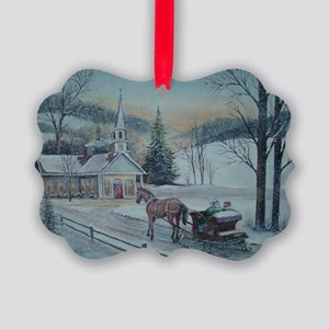 Silent Night-Charles Roy Picture Ornament