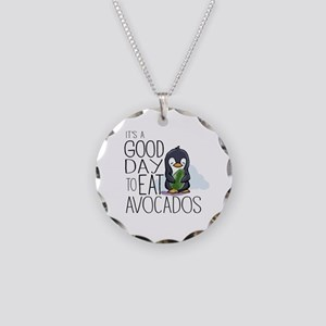Its a Good Day to Eat Avocados Penguin Necklace