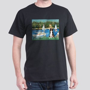 Sailboats & Border Collie Dark T-Shirt