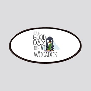 Its a Good Day to Eat Avocados Penguin Patch