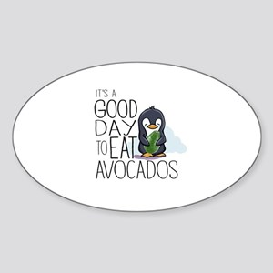 Its a Good Day to Eat Avocados Penguin Sticker