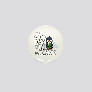 Its a Good Day to Eat Avocados Penguin Mini Button
