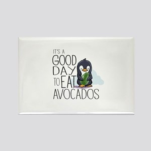 Its a Good Day to Eat Avocados Penguin Magnets