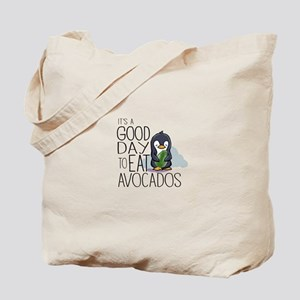 Its a Good Day to Eat Avocados Penguin Tote Bag