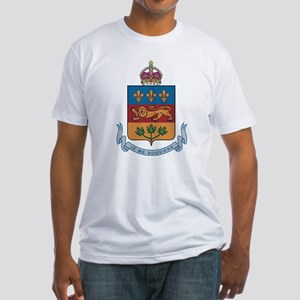 Quebec Coat Of Arms Fitted T-Shirt