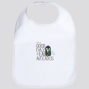 Its a Good Day to Eat Avocados Penguin Baby Bib