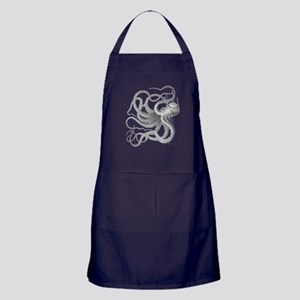 Vintage octopus steampunk nautical kr Apron (dark)