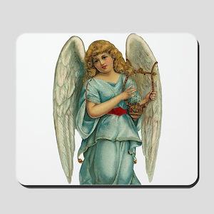 Vintage Angel Harp Mousepad